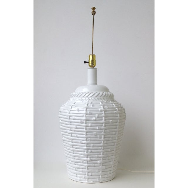 Faux Bamboo Large Bulbous Lamp - Image 8 of 10