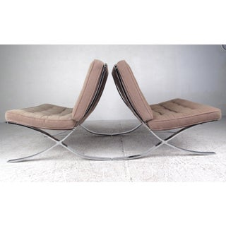 Pair of Vintage Modern Chairs in the Style of Ludwig Mies Van Der Rohe Preview