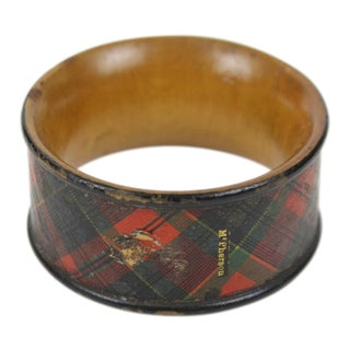 Early 20th Century Antique Tartanware Napkin Ring For Sale