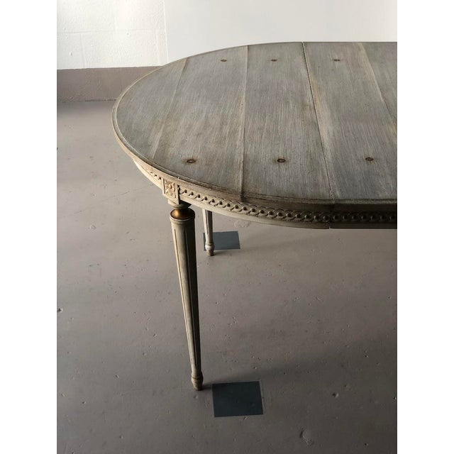 Get The Gusto Faux Board and Tack Dining Table For Sale - Image 4 of 10