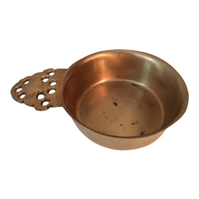 Rare, Vintage Colonial Williamsburg, Virginia Metalcrafters Brass & Bronze Porringer Bowl For Sale