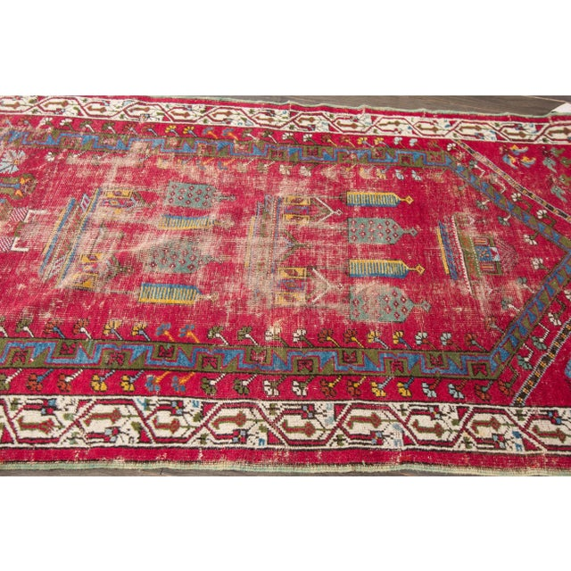 "Apadana Antique Turkish Geometric Rug - 3'1"" X 5'5"" - Image 6 of 7"