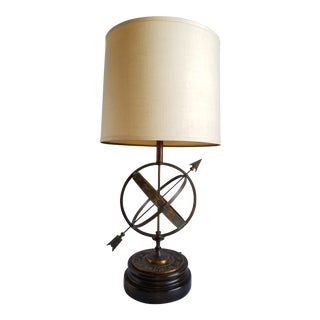 Mid Century Frederick Cooper Astrological Armillary Table Lamp For Sale