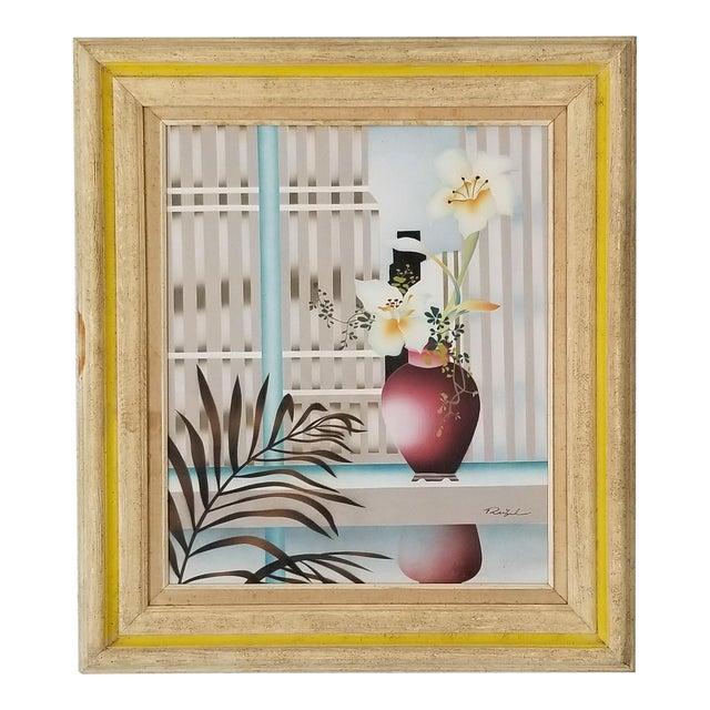 80s Reibel Postmodern Still Life Painting For Sale