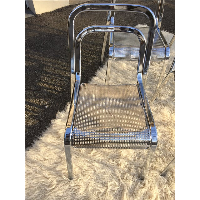 Vintage Chrome Stacking Chairs - 6 - Image 2 of 7
