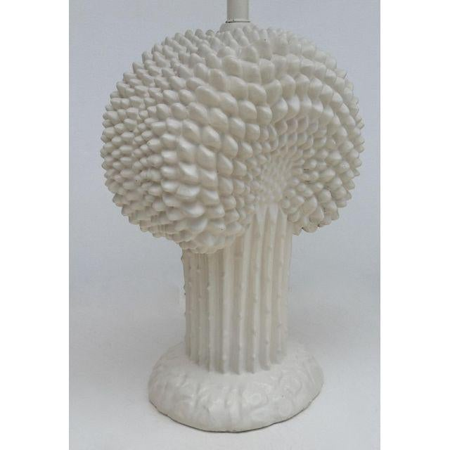 John Dickinson Plaster Palm Cactus Lamp For Sale In West Palm - Image 6 of 11