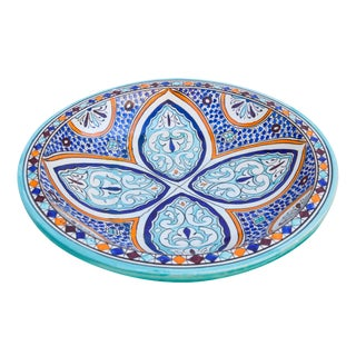 Andalusian Motif Ceramic Bowl For Sale