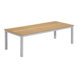 Rectangular Outdoor Dining Table, Natural For Sale
