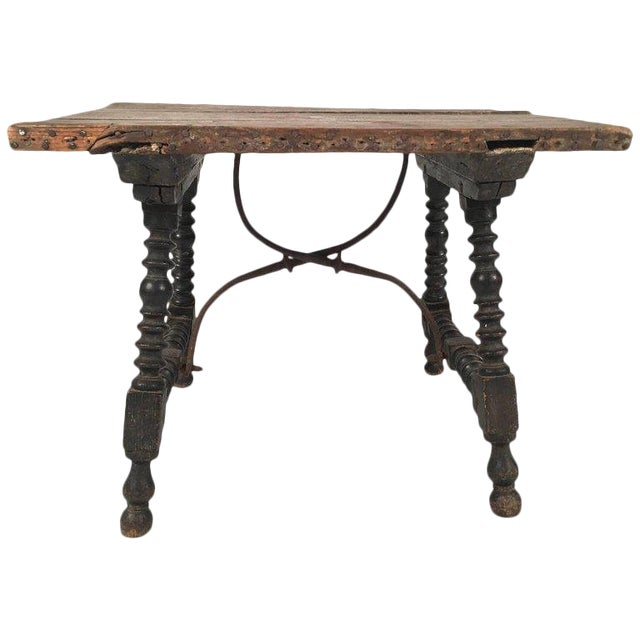 19th Century Spanish Baroque Style Side Table For Sale