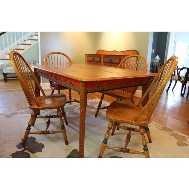 David Marsh Hand-Crafted M&T Dining Set - Image 2 of 6