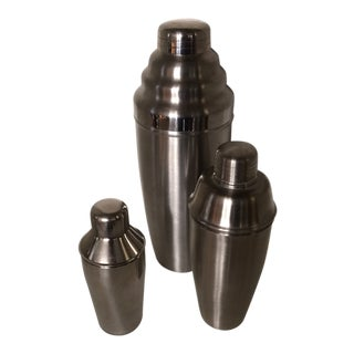 Set of 3 Stainless Steel Cocktail Shakers