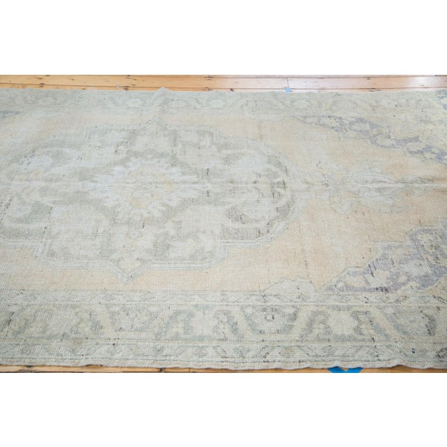 "Peach Distressed Oushak Carpet - 5'9"" x 9'6"" - Image 2 of 8"