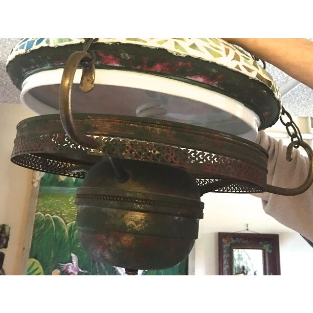Vintage 1940s Mosaic Ceiling Lamp - Image 10 of 10
