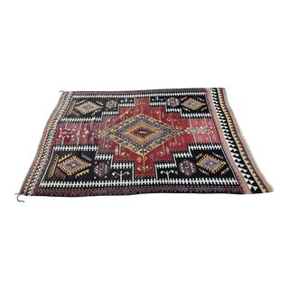 1940s Vintage Turkish Konya Kilim Rug - 5′2″ × 6′12″ For Sale