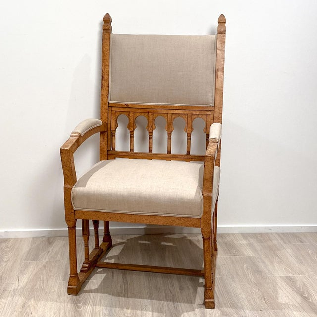 19th Century Gothic Armchair For Sale - Image 9 of 9