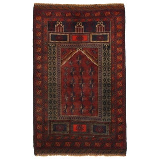 Pasargad Ny Hanmade Afghan Baluch Rug - 2′9″ × 4′5″ For Sale