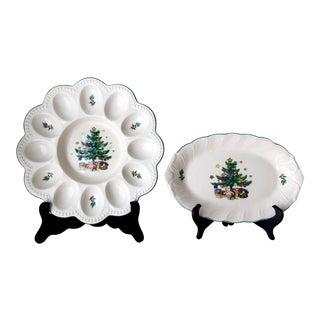 Christmas Motif Appetizer Plates For Sale