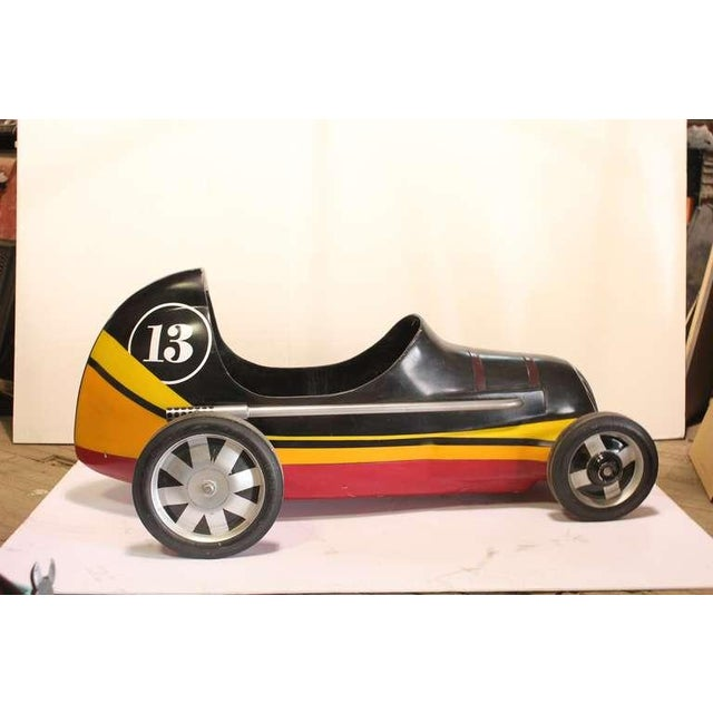 "Vintage "" Lucky 13 "" Soap Box Derby carnival ride car."