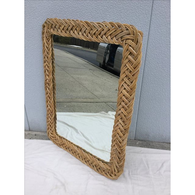 1960's Modern Rattan Mirror - Image 7 of 7