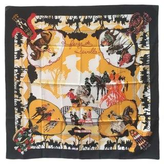 Hermes Feria De Sevilla Silk Scarf in Black For Sale