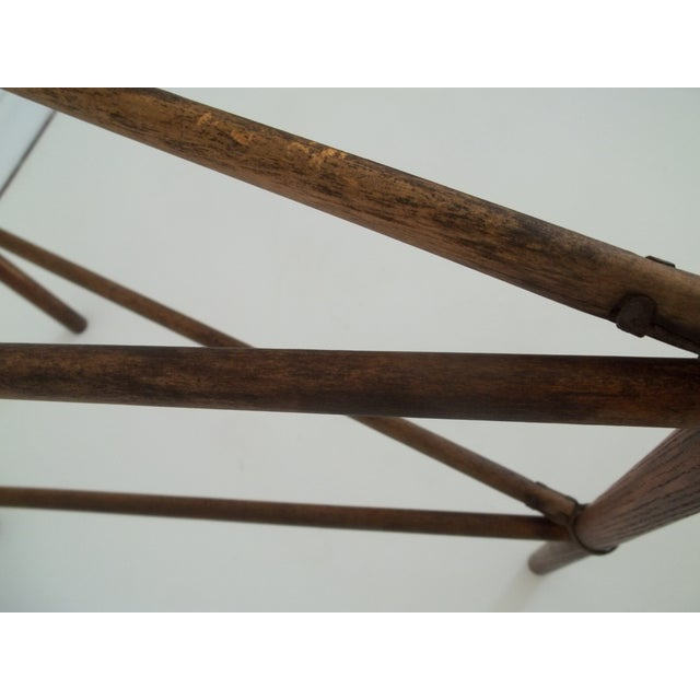 Antique Colonial Oak Drying Rack - Image 5 of 6