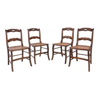 Late 19th Century French Wood Chairs- a Pair For Sale