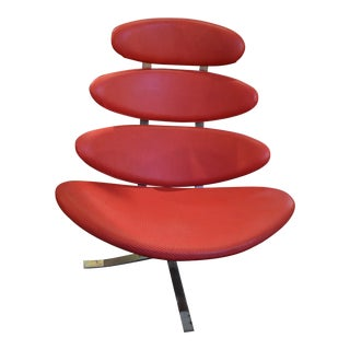 Mid Century Vintage Poul M. Volther for Erik Jorgensen Corona Chair Newly Upholstered For Sale