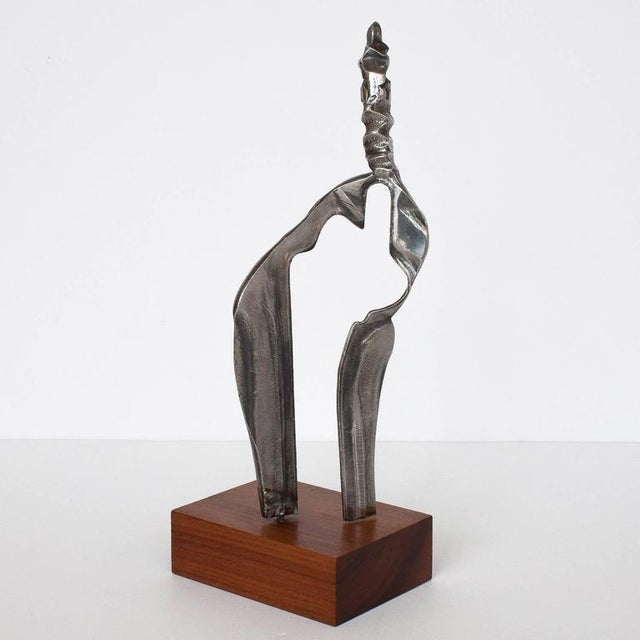 Set Two Cast Aluminum Modernist Abstract Sculptures For Sale In Chicago - Image 6 of 11