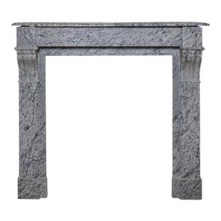 "Louis XVI Style ""Marble Gris"" Mantel, Late 19th Century For Sale"