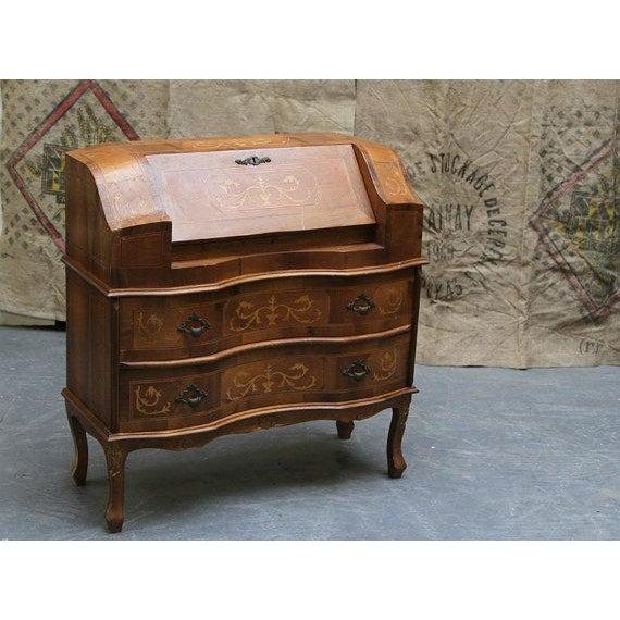 Antique 1800s French Wooden Secretary Desk