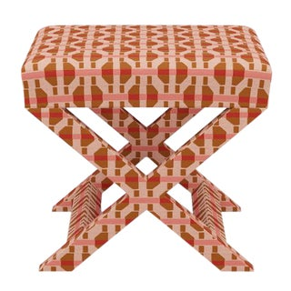 X Bench in Pink Geo For Sale
