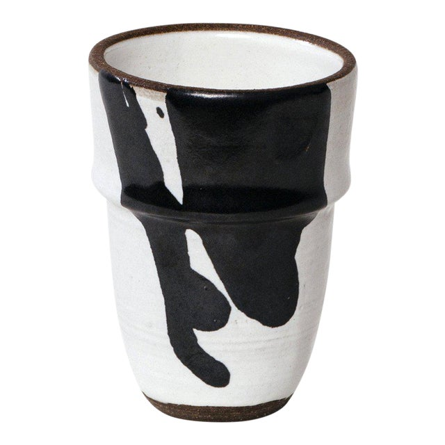 Black & White Ceramic Cup For Sale