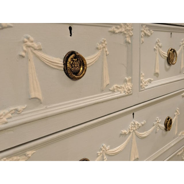 French Provincial Early 20th Century Adams Style Tall Chest of Drawers, English For Sale - Image 3 of 11