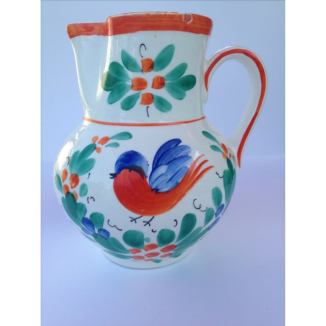 Antique Czech Pottery Creamer - Image 2 of 3