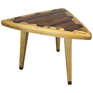 Mid-Century Guitar Pick-Style Side Table For Sale