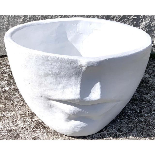 Late 20th Century Modern Cast Stone Half Face Planter For Sale - Image 5 of 7