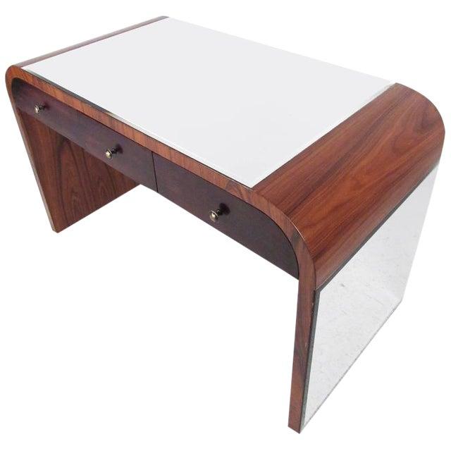 Italian Modern Writing Desk in Rosewood For Sale