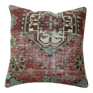 Shabby Chic Antique Rug Pillow For Sale
