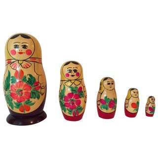 USSR Matryoshka Russian Nesting Dolls - Set of 5