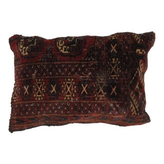 Vintage Bokhara Rug Fragment Pillow For Sale