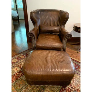 Bradington Young Leather Chair and Ottoman Preview