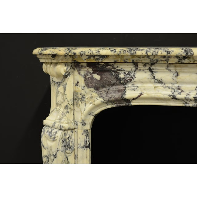 Early 19th Century Paonazetto Pompadour Fireplace Mantel For Sale - Image 5 of 12
