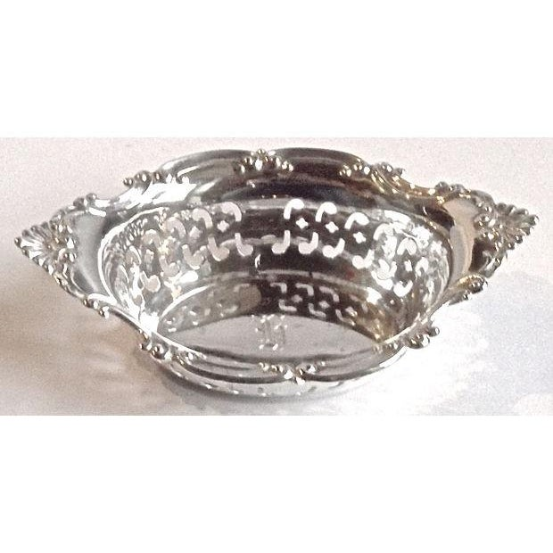 Vintage Sterling Silver Pierced Nut Dish - Image 3 of 6