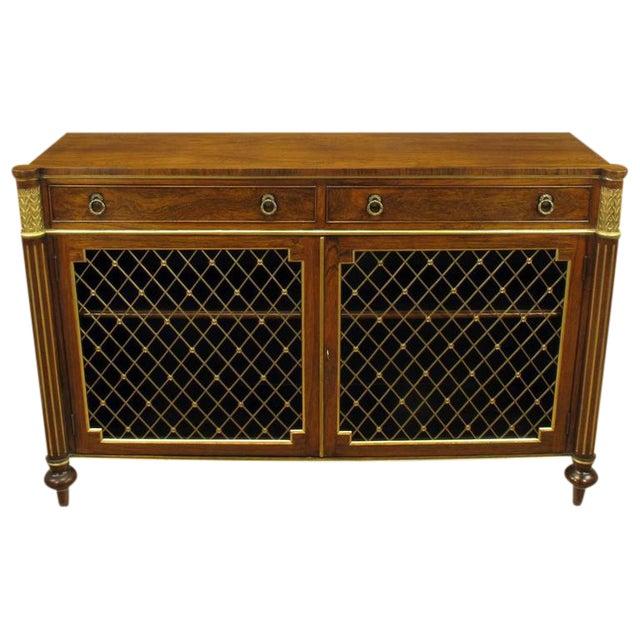 Arthur Brett & Sons Regency Style Rosewood Sideboard For Sale