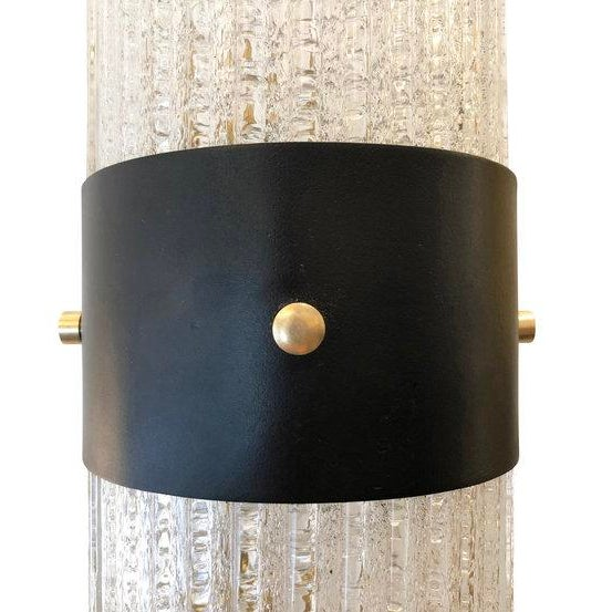 1960s 1960s Italian Mazzega Large Sconces - a Pair For Sale - Image 5 of 6