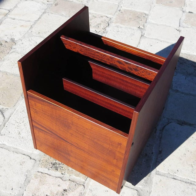 1970s 1970s Rolf Hesland for Bruksbo Rosewood Magazine Trolley For Sale - Image 5 of 5