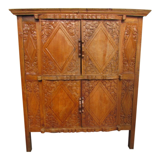 Spanish Carved Armoire - Image 1 of 8