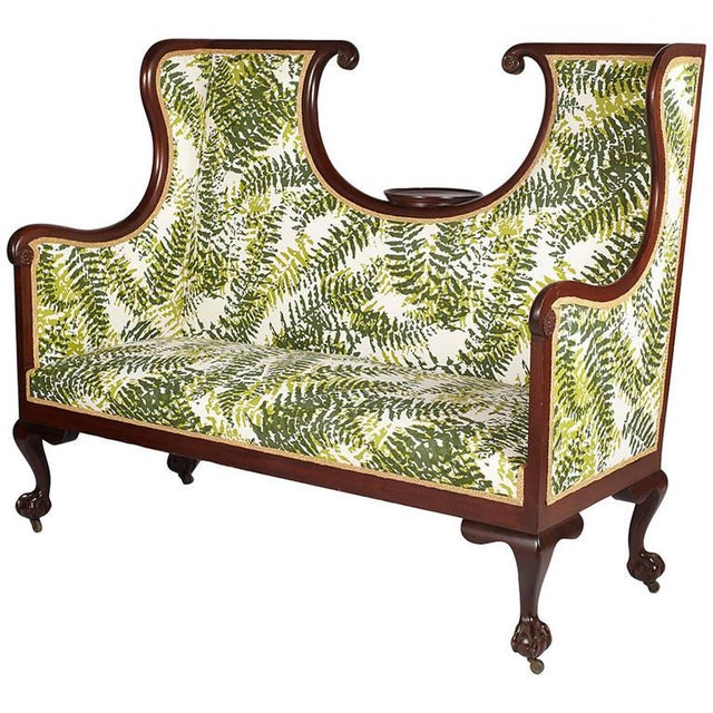 1900 - 1909 Antique English Edwardian Hall Bench For Sale - Image 5 of 5