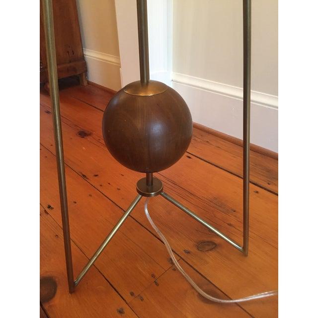 Jonathan Adler Ohai Walnut & Brass Lamp - Image 6 of 10