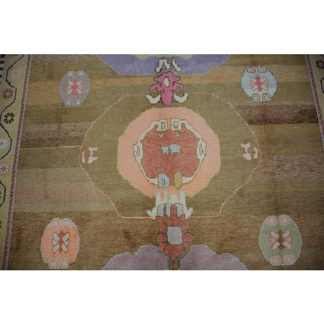 Modern Oversized Hand Knotted Turkish Contemporary Wool Rug For Sale - Image 3 of 9